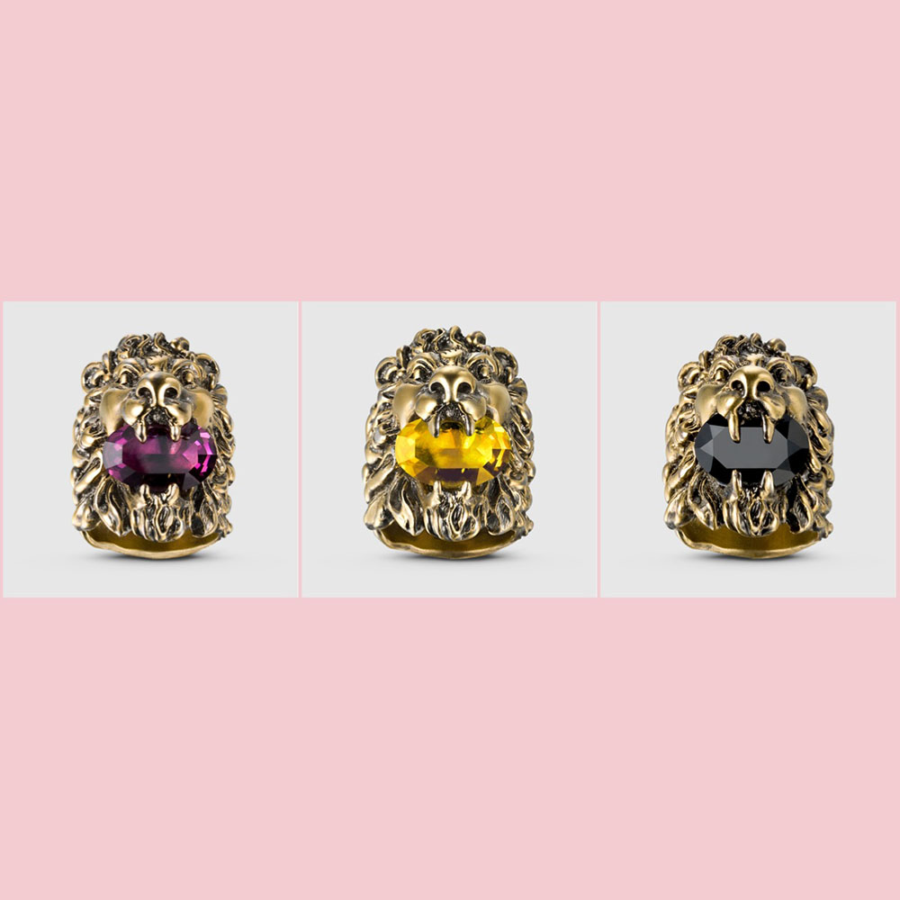 GUCCI LION RINGS